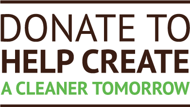 donate to help create a clean tomorrow